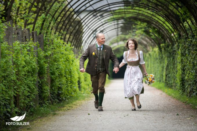 Mirabellgarten Hochzeitsshooting Laufen